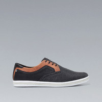 TWO-TONE FELT SNEAKERS - Shoes - Man - ZARA United States