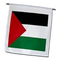 InspirationzStore Flags - Flag of Palestine - Palestinian black red white green stripes triangle Arab world country West Bank - 12 x 18 inch Garden Flag (fl_158407_1)