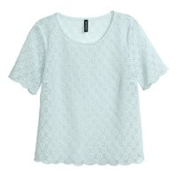 H&M - Lace Top - Turquoise - Ladies