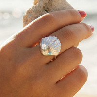 Beach Holiday Shell Rings Gift-219
