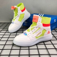 ADIDAS fashionable new colour patchwork boots for men with high tops