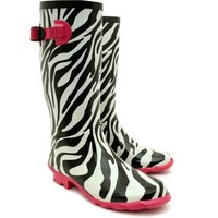"Spy Love Buy Flat Snow Rain Buckle Wellies Wellington Knee High Boots ""Luz"""