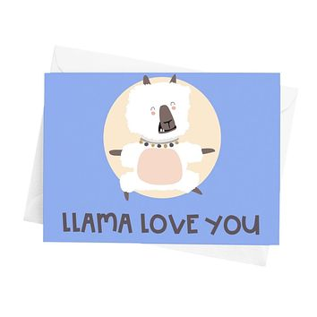Llama Love You Greeting Card