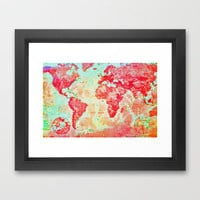 Oh, The Places We'll Go... Framed Art Print by Ally Coxon | Society6