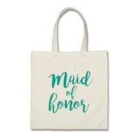 Maid of honor wedding tote bag for beach wedding