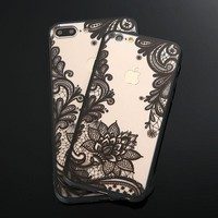 Retro Lace Paisley Floral Mobile Phone Cases For iPhone 7 6 6s Plus and Samsung Galaxy S7 S6 Edge S8 S8 Plus