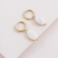 Pearly Hoop Earrings