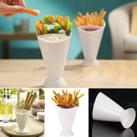 NEW Snack Cone Stand With Remove Sauce Dip Fries Chips Finger Food Salad Cup Holder For Snack Storage Tools