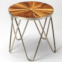 Hairpin Modern Round End Table Multi-Color
