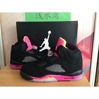 Air Jordan 5 black peach Basketball Shoes 36-40