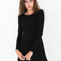 Long Sleeve Ponte Mini Dress