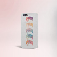 Geometric Elephants Case for iPhone 5 iPhone 5S iPhone 4 iPhone 4S and Samsung Galaxy S5 S4 & S3