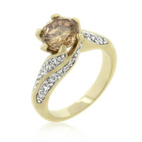 Champagne Twist Engagement Ring, size : 07