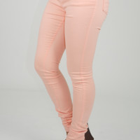 Flirty Little Secrets Pants: Light Peach