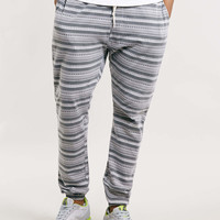 Grey Aztec Joggers - Sale- TOPMAN USA