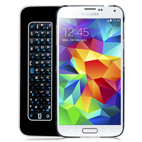 Plastic Bluetooth Keyboard Case with Built-in Bluetooth Keyboard for Samsung Galaxy S5 i9600 (Black)