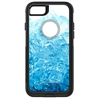 DistinctInk™ OtterBox Commuter Series Case for Apple iPhone or Samsung Galaxy - Clear Blue Ice