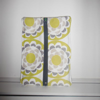 40% off SALE/CLEARANCE Yellow and Green Circles Zippered Pencil Pouch