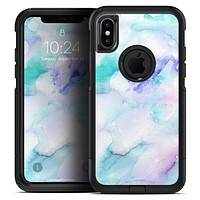 Mint 9 Absorbed Watercolor Texture - Skin Kit for the iPhone OtterBox Cases