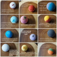 Bath Bomb Set 12 Ultra Lush Handmade Fizzies Shea Cocoa Butter Moisturize Dry Skin Luxurious Premium Quality