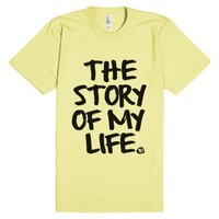 Story Of My Life One Direction Lyric Shirt-Unisex Lemon T-Shirt