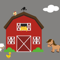"""Farm Animal Decals, Nursery Room Farm Decals, Barn Wall Decal, Horse Decal, Sheep Decal, Country Wall Decals, Removable Decals - 75"""" x 150"""""""
