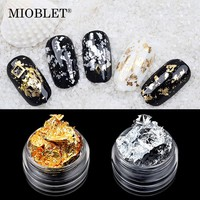 New Arrivals 1 Box Gold Silver Aluminum Foil Paper Nail Art Sticker 3D Glitters DIY Manicure UV Gel Polish Nail Decoration Tools
