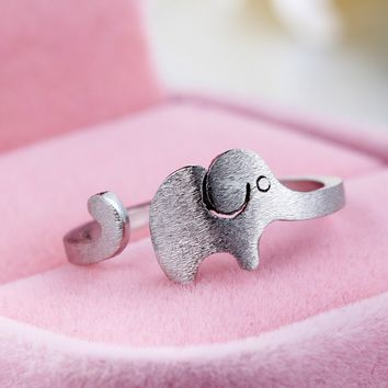 Cute Elephant 925 Sterling Silver Ring