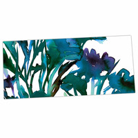 """Ebi Emporium """"Petal For Your Thoughts Teal"""" Turquoise Green Desk Mat"""
