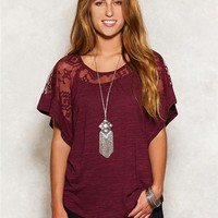Lace Inset Poncho