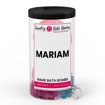 MARIAM Name Jewelry Bath Bomb Tube