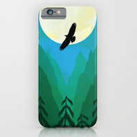 Minimalist hawk iPhone & iPod Case by Tony Vazquez