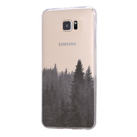 Forest Fog Samsung Galaxy S6 Edge Clear Case S6 Case S5 Transparent Cover iPhone 6s plus Case