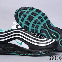HCXX 19July 1014 Nike Air Max 97 OG QS 921826-013 Flyknit Breathable Running Shoes