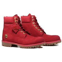 "AUGUAU Timberland 6"" Premium Boot 'Ruby' - Red"