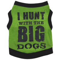 New Cotton Letter Print dog Puppy Pets Vests Clothes