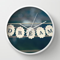 dream Wall Clock by Beverly LeFevre
