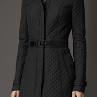 Buckle Detail Quilted Jacket