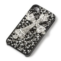 Bling Cross Cover for iPhone 4 & 4S | Claire's