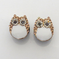 """6g 4g 2g 0g 00g 7/16"""" 1/2"""" / Owl Plugs Gauges Stretchers Earrings / Stetched Gauged Ears / Surgical Stainless Steel Tunnels"""