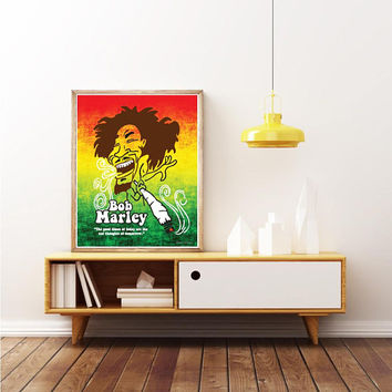 BOB MARLEY - REGGAE Legend - Unique Poster. Limited Edition Print