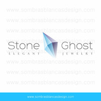 OOAK Premade Logo Design - Stone Ghost - Perfect for a bead supplier or a jewelry designer