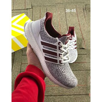 ADIDAS UltraBOOST street fashion men and women casual wild sports running shoes grey