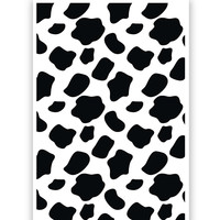Cow Moo Pattern Poster