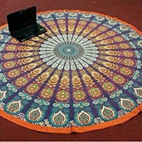 Round Tapestry Hippie Wall Hanging Mandala Tapestries Dorm Decor Bedspread