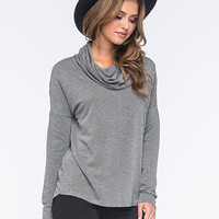 Full Tilt Yummy Cowl Womens Tee Charcoal  In Sizes