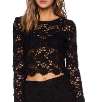 Alexis x REVOLVE Frederic Embroidered Top in Black
