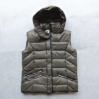 Lightweight Olive Green Winter Storm Puffer Vest