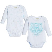 Baby Boys Blue Romper 2-Piece Gift Set