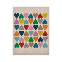 "Project M ""Diamond Hearts"" KESS Naturals Canvas (Frame not Included)"